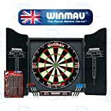 Winmau Professional Dart Set - Comes With Blade 5 Dartboard, Darts and Cabinet