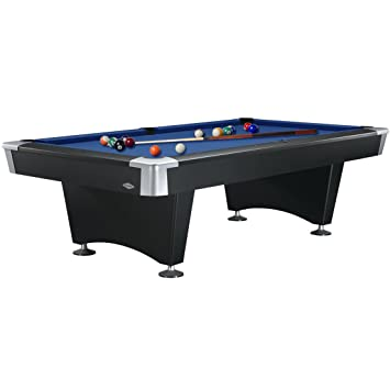 Awesome Brunswick 8 Foot Black Wolf Pool Table   Regatta Blue Contender Cloth And  Play Kit: