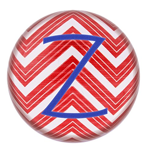 Table Cathys Decoration Concepts (Cathy's Concepts Personalized Chevron Domed Glass Paperweight, Letter Z, Red/White/Blue)