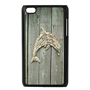 Drawing art Cute dolphin Hard Plastic phone Case Cover FOR IPod Touch 4 JWH9111950
