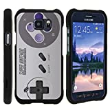 TurtleArmor | Compatible for Samsung Galaxy S6 Active Case | G890 [Slim Duo] Two Piece Hard Cover Slim Snap On Case on Black – Classic Game Controller For Sale