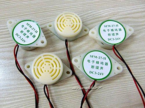 5pcs 95DB alarma Arduino DC3-24V zumbador electr/ónico SFM-27 intermitente Beep s439
