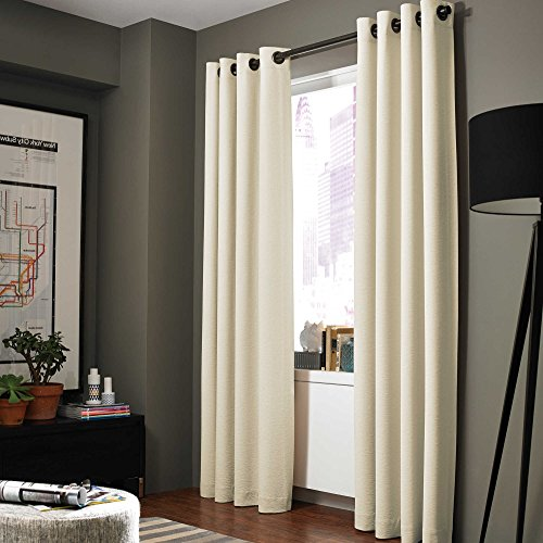 GorgeousHome (ADAM) 1 Solid Panel 100% Room Darkening Insulated Thermal Lined Blackout Window Grommets Curtain (63