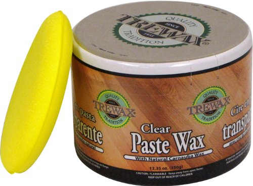 Trewax Paste Wax Clear, Pack of 2, 12.35-Ounce ()