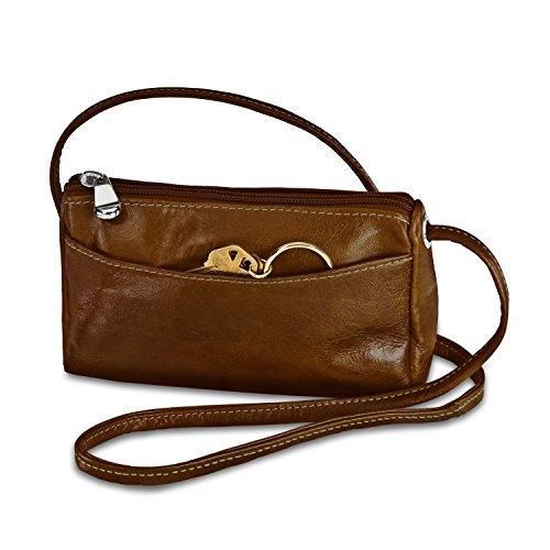 David King & Co. Florentine Top Zip Mini Bag 3501 Cherry, Honey, One Size