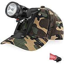 GearOZ Red LED Wireless Headlamp With Soft Cap For Night Hunting,Tracking Blood,Scanning Eyes Of Coons,Coyotes,Foxes,Alligators,Predators