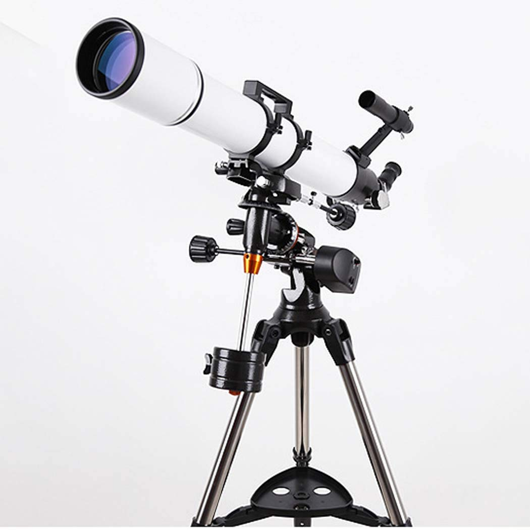 GGPUS TQ4-HS90DL Retractable Hood, 360 Degree Rotation, Telescope Refracting Telescope Adjustable Portable Travel Telescopes for Astronomy,Electric by GGPUS