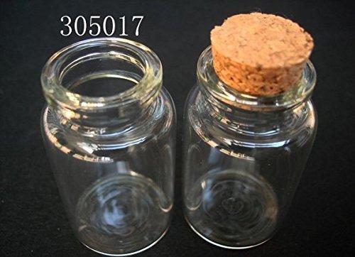 05da26e948d2 Galleon - 10 Pcs 20ml 30x50mm Small Clear Glass Bottle Message ...