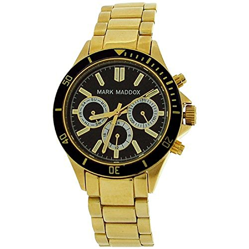 Mark Maddox Ladies Black Multifunction Dial Bracelet Strap Watch MM3016-57