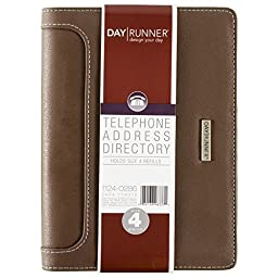 Day Runner 2016 Large Desk Telephone/Address Book, 5-3/4 x 8-11/16 Inches (1124-0286)
