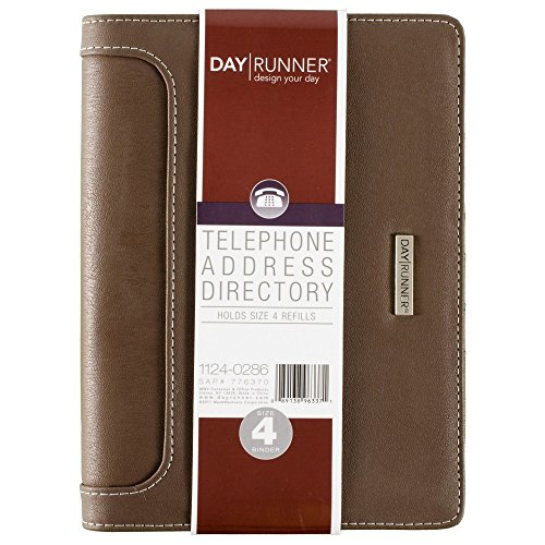 Day Runner 2016 Large Desk Telephone/Address Book, 5-3/4 x 8-11/16 Inches (1124-0286) ()