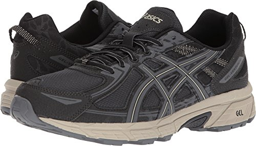 Athletic Running Sneakers (ASICS Mens Venture 6 Running Sneaker, Black/Dark Grey/Feather Grey, Size 15)