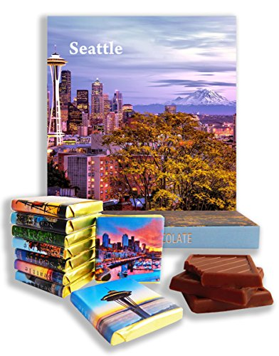 DA CHOCOLATE Candy Souvenir SEATTLE Chocolate Gift Set 5x5in 1 box (Mountain Prime) (Seattle Experience Gifts)