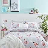 Catherine Lansfield Flamingo Easy Care Single Duvet Set Grey