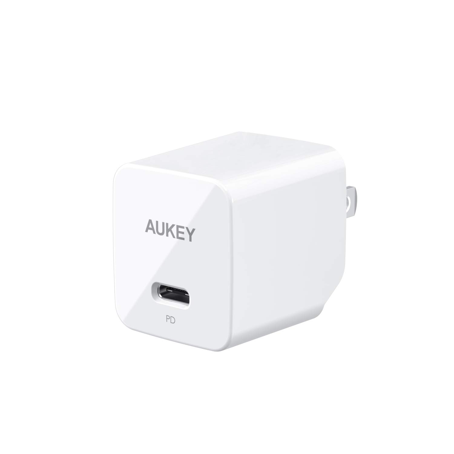 AUKEY USB C Charger with 18W Power Delivery 3.0, Ultra-Compact USB C Wall Charger, Compatible iPhone Xs/XS Max/XR, Google Pixel 2/2 XL, Samsung Galaxy S9+ / Note8 and More-White