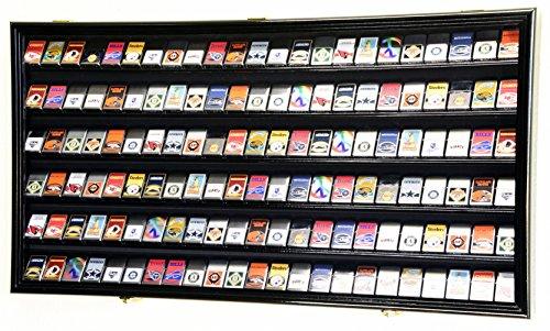 138 Zippo Lighter Lighters Match Books Matches Display Case Cabinet Wall Rack Holder Lockable w/98% UV Door (Black Finish)
