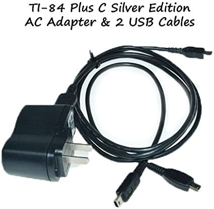 TI-84 Plus C Silver Edition Charger Power Adapter With 2 USB Model 5V1AKIT Office Supply Store
