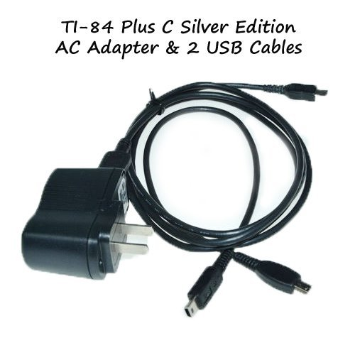 TI-84 Plus C Silver Edition Charger Power Adapter With 2 USB Model: 5V1AKIT Office Supply Store