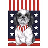 Cheap Best of Breed Shih Tzu Patriotic Breed Garden Flag
