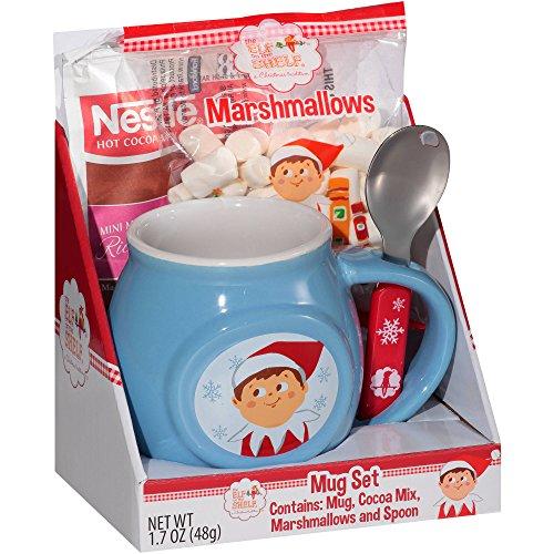 Elf on the Shelf Mug Set with Hot Cocoa, Marshmallows, Mug and Spoon