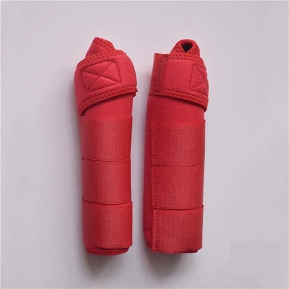 ZANGAO Montar a Caballo de arnés Leg Protector Ecuestre Cuidado Polainas Aparato ortopédico de Pierna Caballo Equitación (Color : Red)