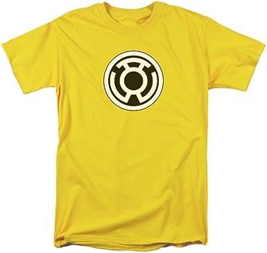 Sons of Gotham Green Lantern Shirt M Yellow Emblem Adult Ringer T