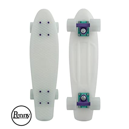 """0a983d77 Penny Classic Graphic Complete Skateboard, Glow In The Dark, Galactic Glow  22"""""""