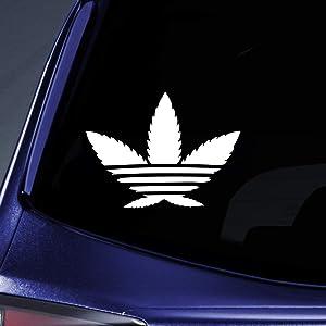 Bargain Max Decals - Cannabis Weed Hemp Marijuana Sticker Decal Notebook Car Laptop 6