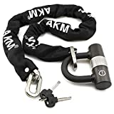 AKM Security Bike Chain Lock Heavy Duty Bicycle lock Bike Disc Lock with 16mm U Lock,4-Feet Motorbike Lock Black