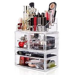 Makeup Organizer 3 Pieces Acrylic Cosmet...