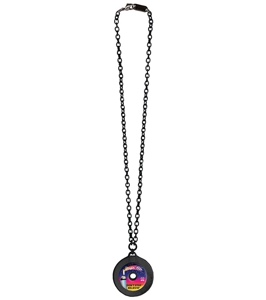 Classic Hardware Dont Stop Believin Record Necklace