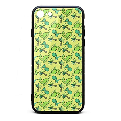 - Phonerebey iPhone 7/8 Case,Cute Dinosaur Seamless Pattern Anti-Scratch Shockproof Slim Cover Case Compatible with Apple iPhone 7/8 Case,TPU and Tempered Glass