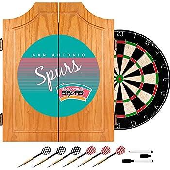 Image of Darts & Dartboards NBA San Antonio Spurs Wood Dart Cabinet, One Size, Brown