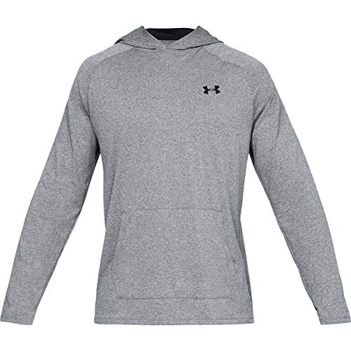 Under Armour Men's Tech 2.0 Hoodie, Pitch Gray Light Heather (012)/Black, ()