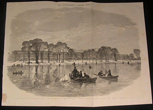 Great Exhibition Building Hyde Park London 1851 antique wood engraved print (Wall Park Hyde Great)