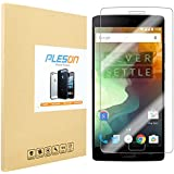 OnePlus 2 Screen Protector, PLESON® OnePlus two Premium HD Clear 2.5D Round Edge 0.3mm Ultra Slim 9H Hardness Bubble-Free Tempered Glass Screen Protector for OnePlus Two[Lifetime No-Hassle Warranty]