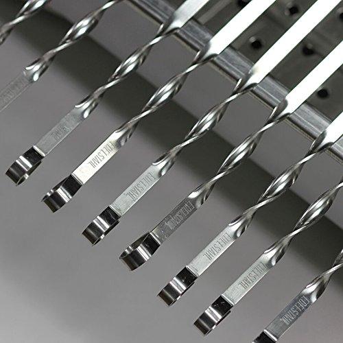Grillspieße aus Edelstahl für Schaschlik 10-er SET, Metall Stärke 2mm, länge 60cm