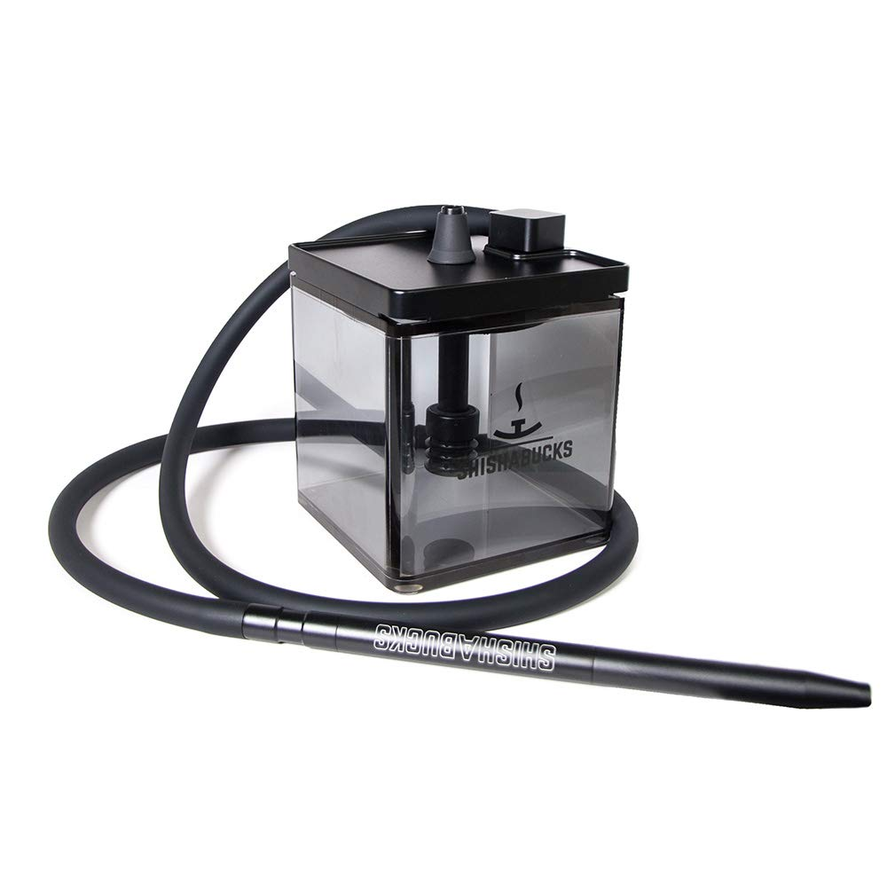 Cloud|Micro Modern Hookah with a Bag - Modern and Portable (Double Black)