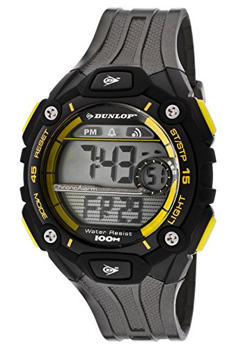 Dunlop Reloj Digital para Hombre de Automático con Correa en Resina DUN-201-G10: Amazon.es: Relojes
