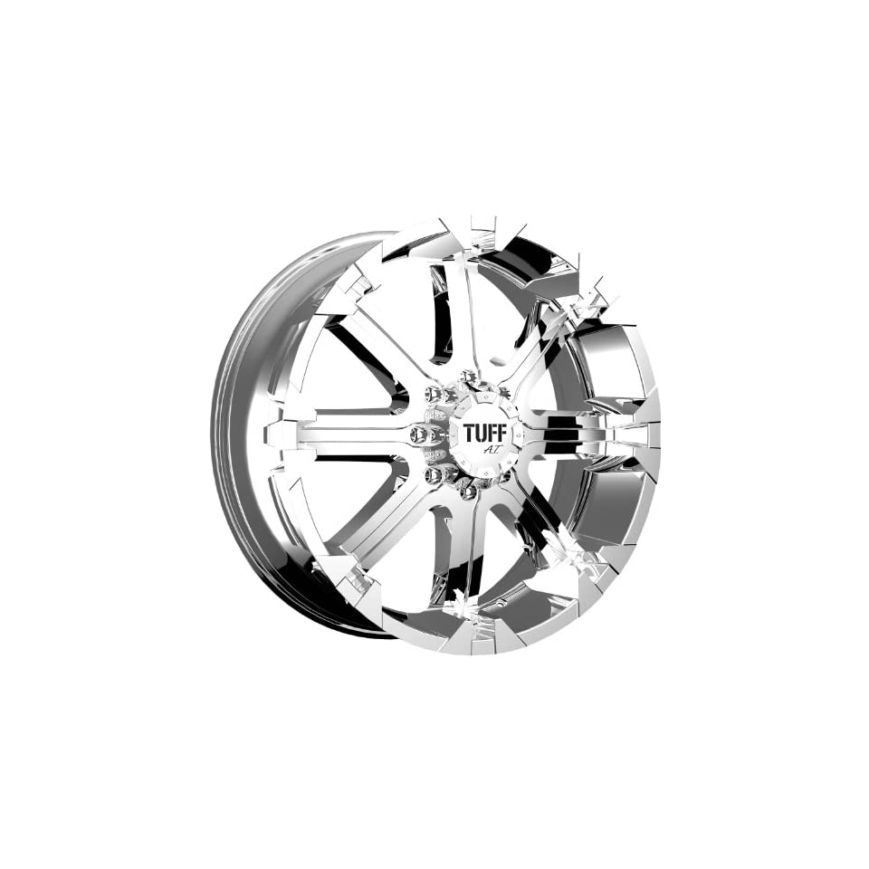 Tuff T13 17 Chrome Wheel / Rim 6x5.5 with a  13mm Offset and a 108.0 Hub Bore. Partnumber T13GK6M13C108