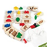 Guidecraft 3D Feel & Find Icons - Shape and Tile Matching Toy for Kids, Learning & Educational Toys