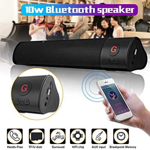 SMALL-CHIPINC - HIFI Bluetooth Speaker Wireless Stereo Super Bass Soundbar Subwoofer FM TF Aux USB Portable Home Theate Speaker