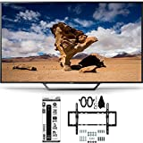 Sony KDL-48W650D 48-Inch Class Full HD 1080P TV with Flat + Tilt Wall Mount Bundle includes Television, Flat & Tilt Wall Mount Kit and Power Strip with Dual USB Ports