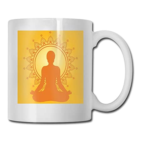 Jolly2T Funny Ceramic Novelty Coffee Mug 11oz,Meditating ...