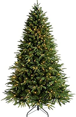 5 feet//1.5 m WeRChristmas Pre-Lit Scandinavian Spruce Pine Cone and Berry Christmas Tree with 200 Warm White Candle LED Lights Green