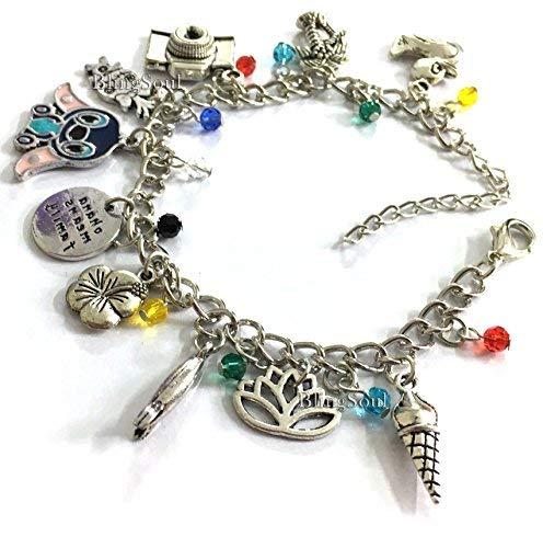 Stitch Lilo Charm Bracelet Jewelry Merchandise - Christmas Bracelet Gifts