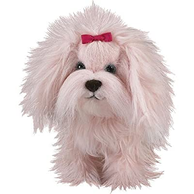 AniMagic Fluffy Go Walking Puppy - Pink: Toys & Games