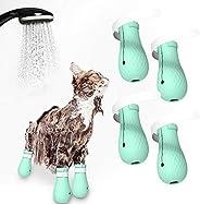 Sapatos para gatos Blusea antiarranhões, sacola de cuidados para gatos, botas de silicone para animais de esti