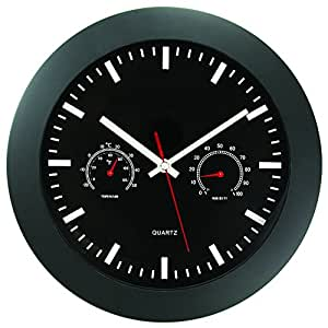Amazon Com Timekeeper 12 Quot Wall Clock With Black Frame And