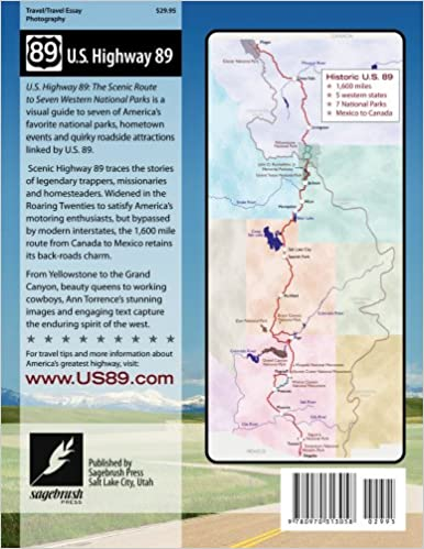 US Highway The Scenic Route To Seven National Parks Ann - Us highway 89 mile map